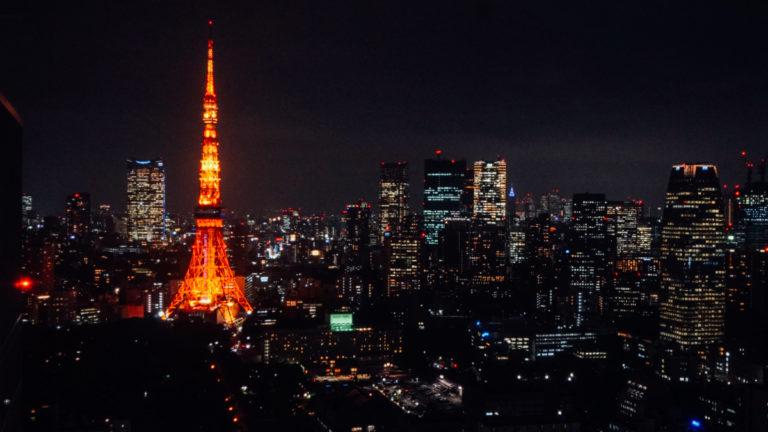 東京鐵塔夜景:濱松町 世界貿易中心大樓