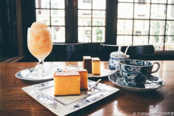 【長崎】松翁軒本店:在咖啡廳悠閒品嚐長崎蛋糕(カステラ)