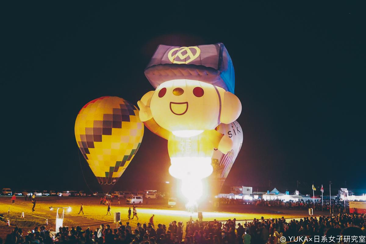 佐賀國際熱氣球節 夜間係留 全聯福利熊