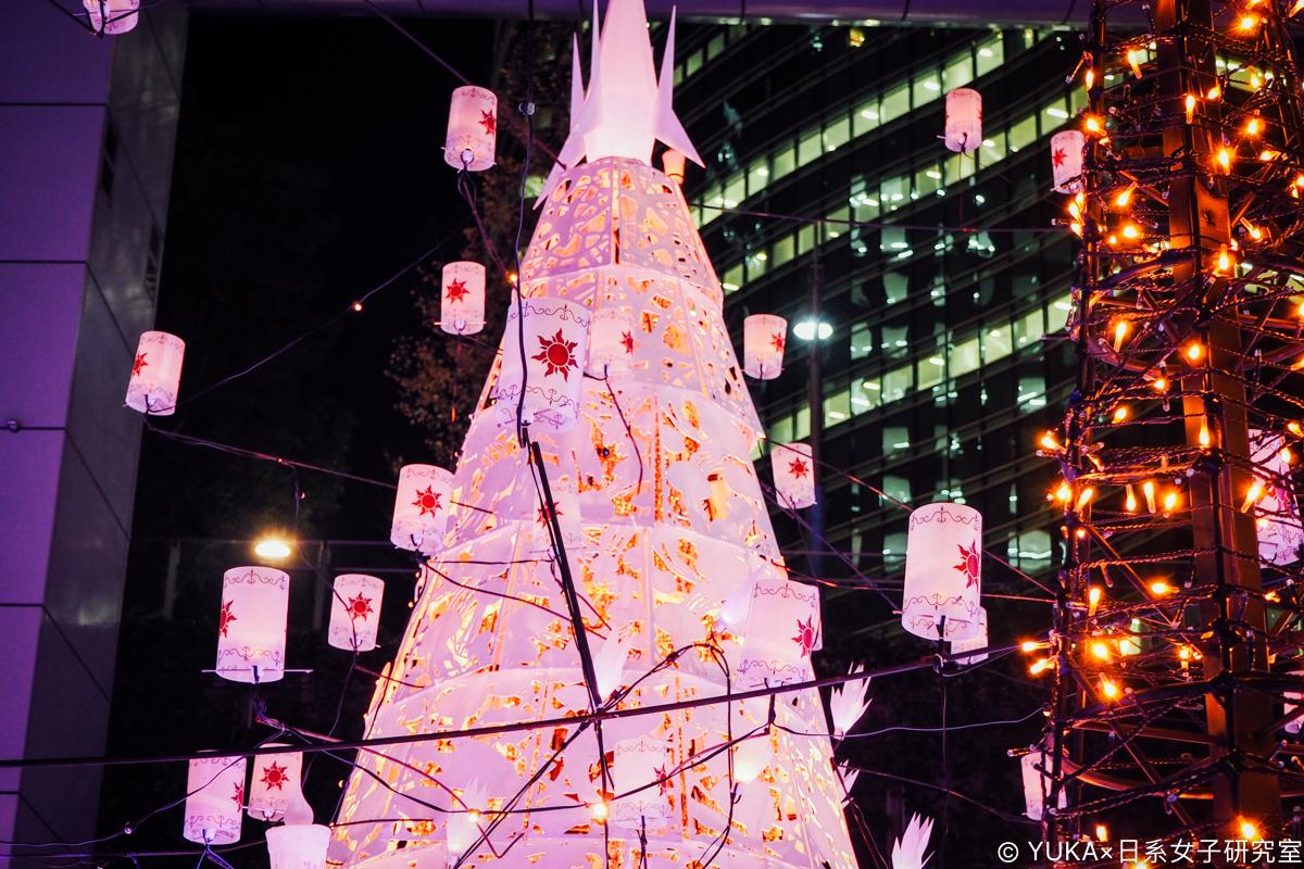 東京 汐留Caretta 迪士尼 聖誕節點燈