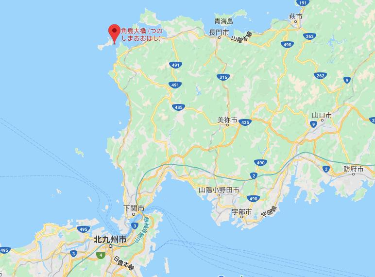 角島大橋google map